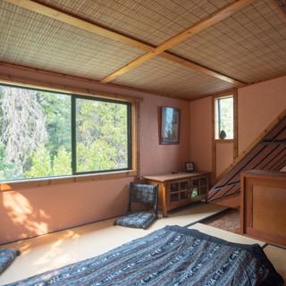 Traditional Japanese tatami sleeping area