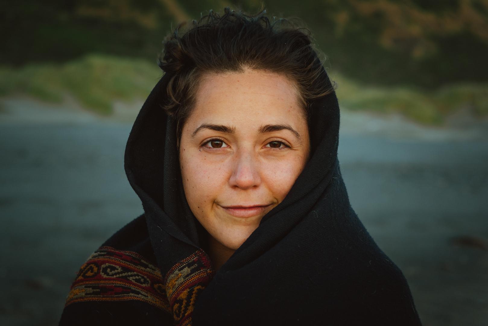 portrait woman outside closeup