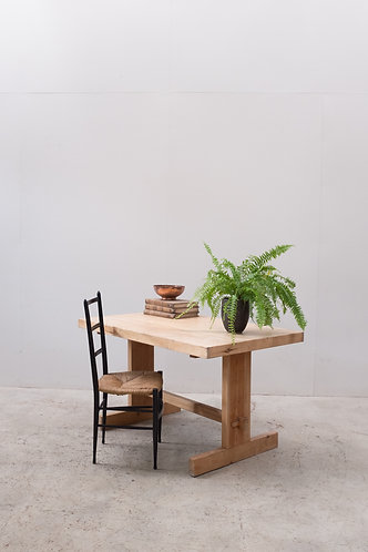 1970's VERNACULAR PINE AND OAK TABLE