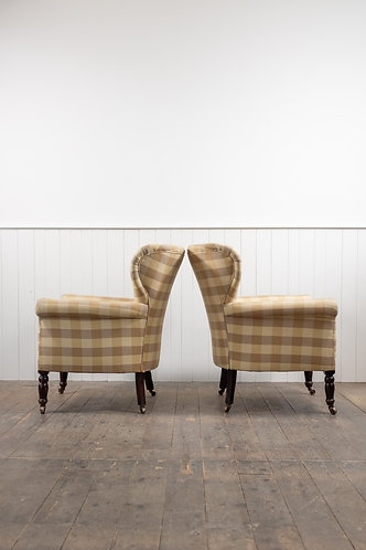 LARGE PAIR OF ARTS AND CRAFTS WING CHAIRS