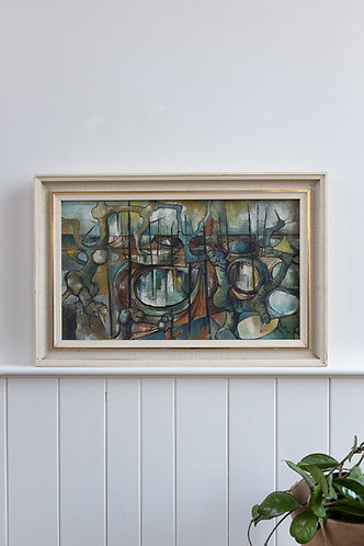 MID CENTURY BRUTALIST ABSTRACT BY HUGH SHUTTLEWORTH