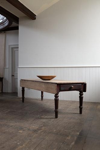 LARGE 19TH CENTURY CUMBERLAND KITCHEN TABLE