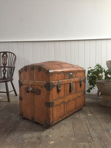 19TH CENTURY DOMED TRUNK