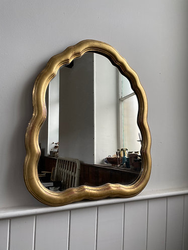 1920's GILTWOOD CLOUD SHAPED MIRROR