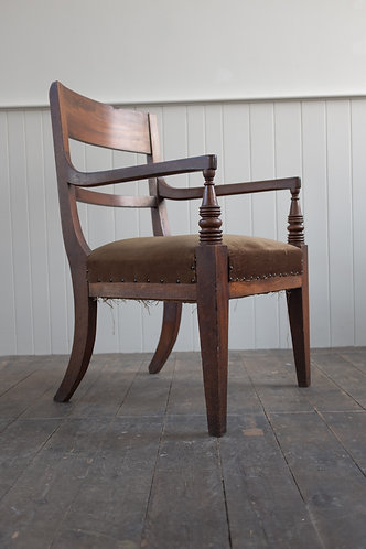 OVERSCALE GEORGIAN MAHOGANY ELBOW CHAIR
