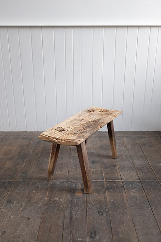 19TH CENTURY WEATHERED PIG BENCH
