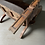Thumbnail: 19TH CENTURY LEATHER AND WALNUT READING CHAIR