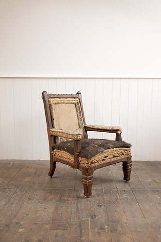 19TH CENTURY REFORMED GOTHIC OAK LIBRARY CHAIR