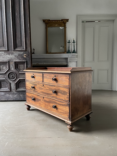 19TH CENTURY LOW WAISTED CHEST OF DRAWERS ATTRIBUTED TO GILLOWS