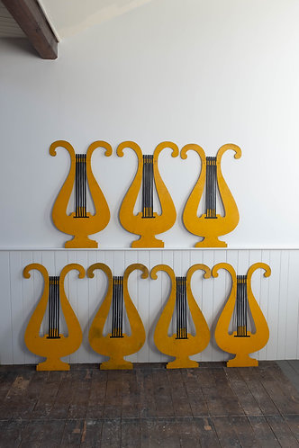 LYRE SHAPED STAGE/FAIRGROUND PROPS