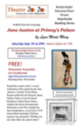 Jane Austen at Prinnys Palace Flyer V1 -