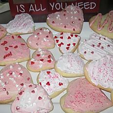 Valentine Sugar Cookies per dozen