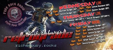 Rich Embury's R3TROGRAD3 Banner (Daylight Savings Schedule)