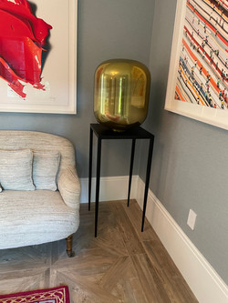 Metal Pedestal with tapered legs