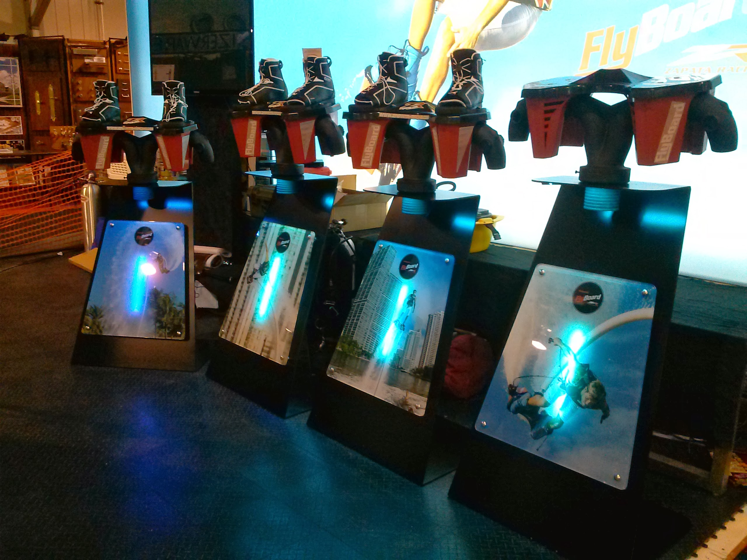 Flyboard Displays