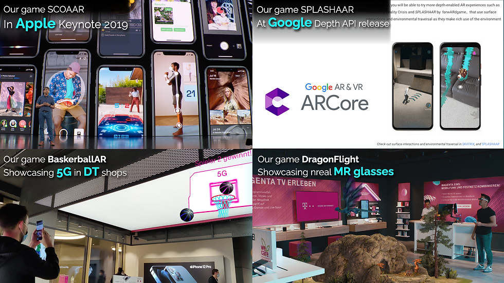 Apple keynote Google Depth API DT Telekom 5G MR glasses Nreal