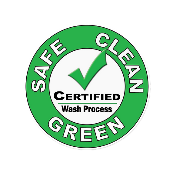 Safe, Clean & Green Certified Wash Process