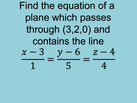How to find the equation of a plane passing through a point and a line?