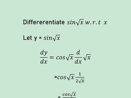 CHAIN RULE IN DIFFERENTIATION