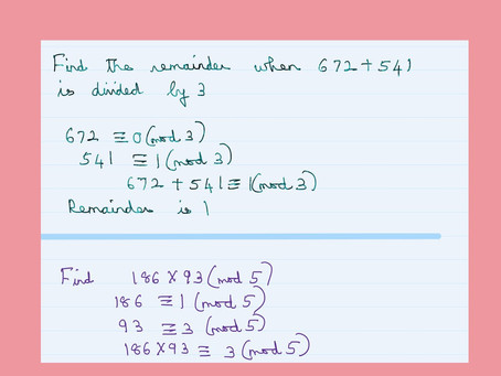 Addition and Multiplication Modulo