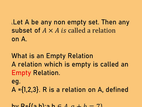 RELATIONS AND EQUIVALENCE RELATIONS