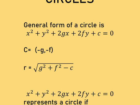 General form of a circle