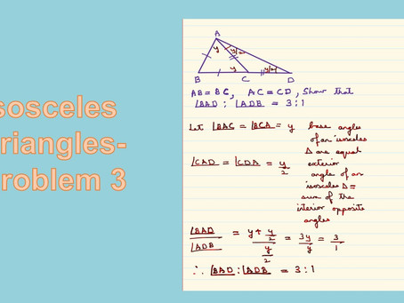 Isosceles Triangles-Problem 3-Class 9-Mathematics