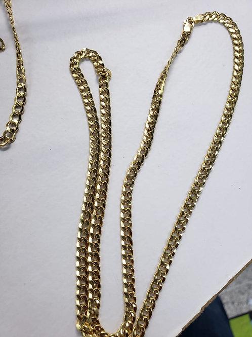Cadena cubana 60 cms 15.5 gramos