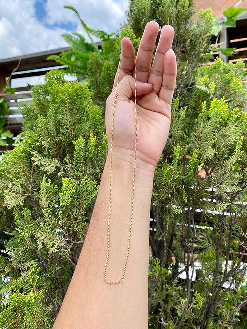 Cadena minicubana 1.6 gramos 50 cms