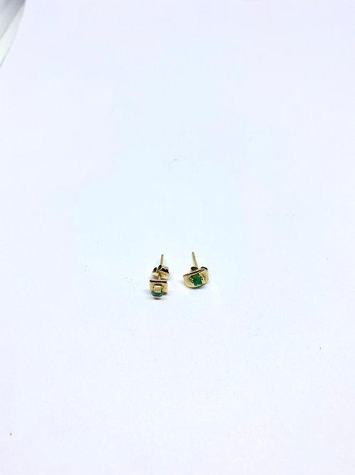 Topos esmeralda par 0.9 gramos - 1