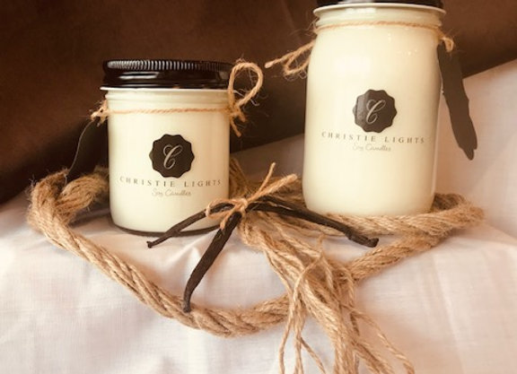 Warm Vanilla Scented Candle
