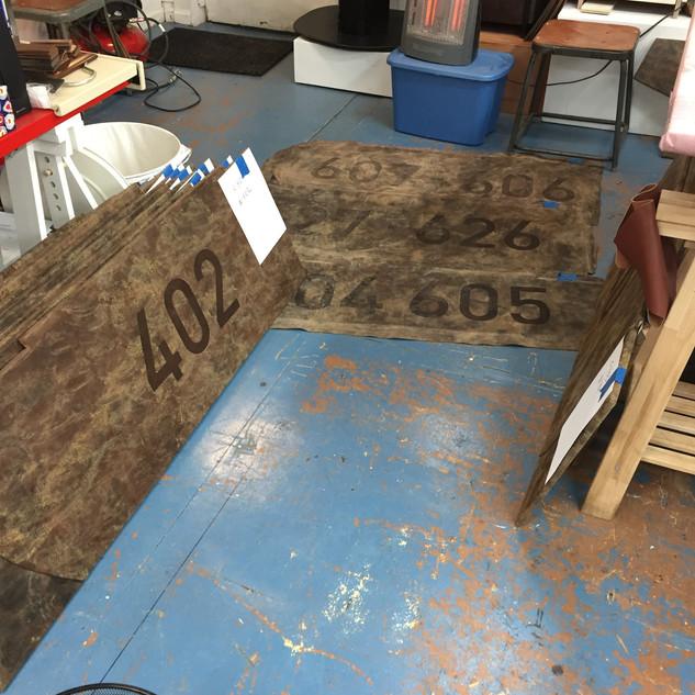 Working on Floor Matts for 1Hotel brooklyn bridge