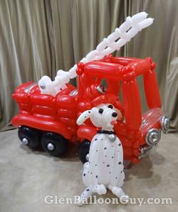 Fire Truck and Dalmatian
