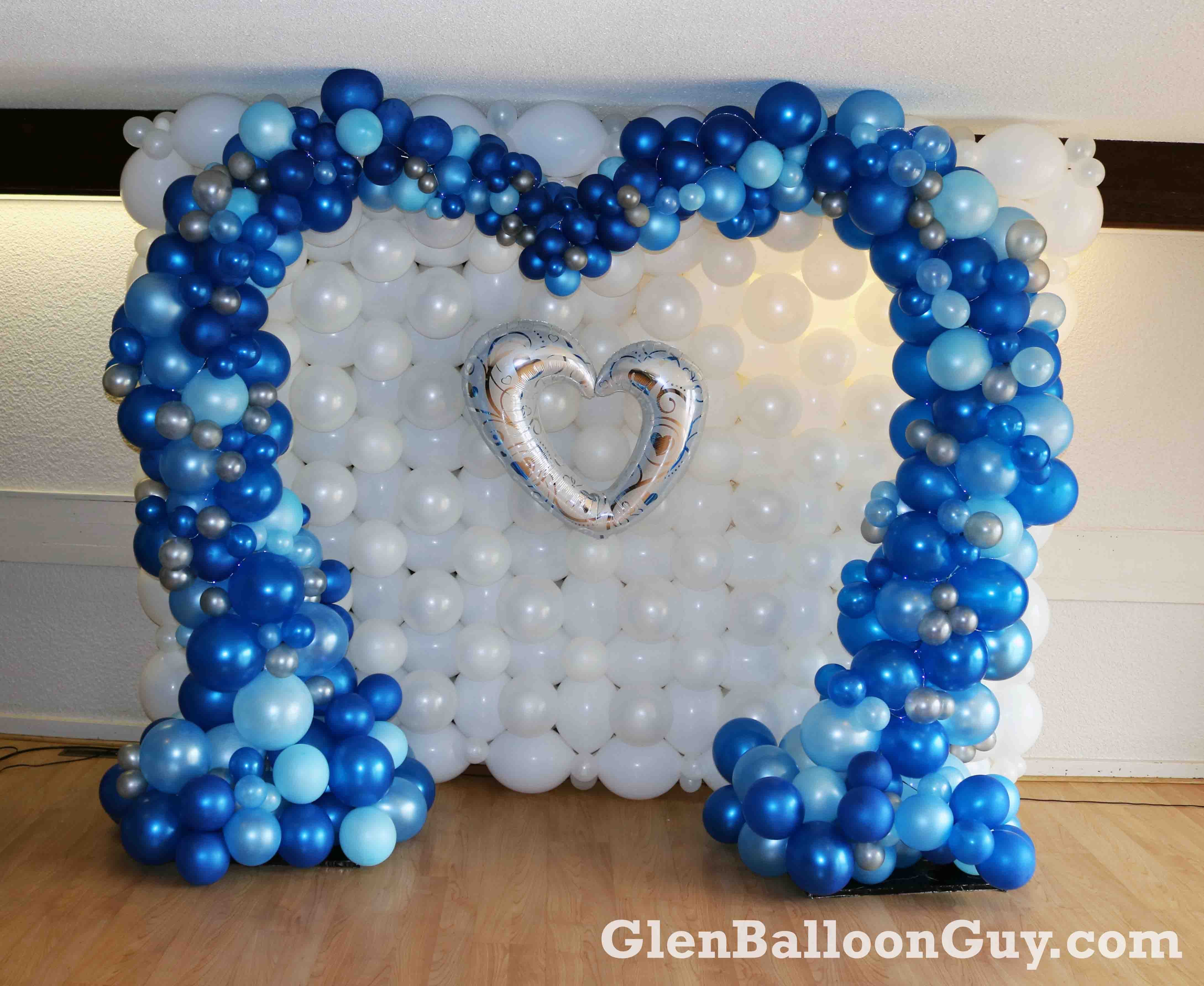 Wedding Organic Heart Balloon Arch