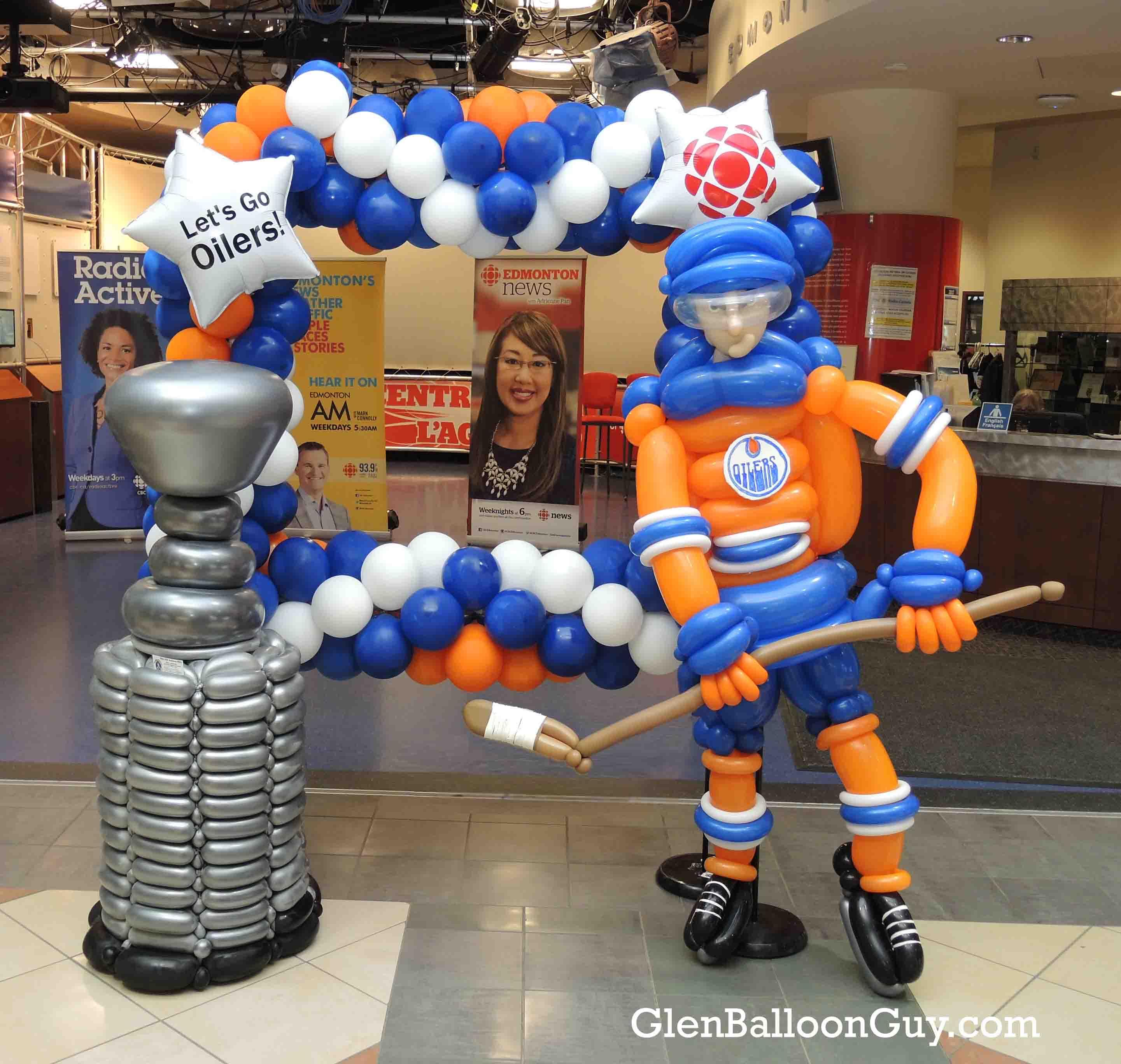Oilers Photo Op Frame
