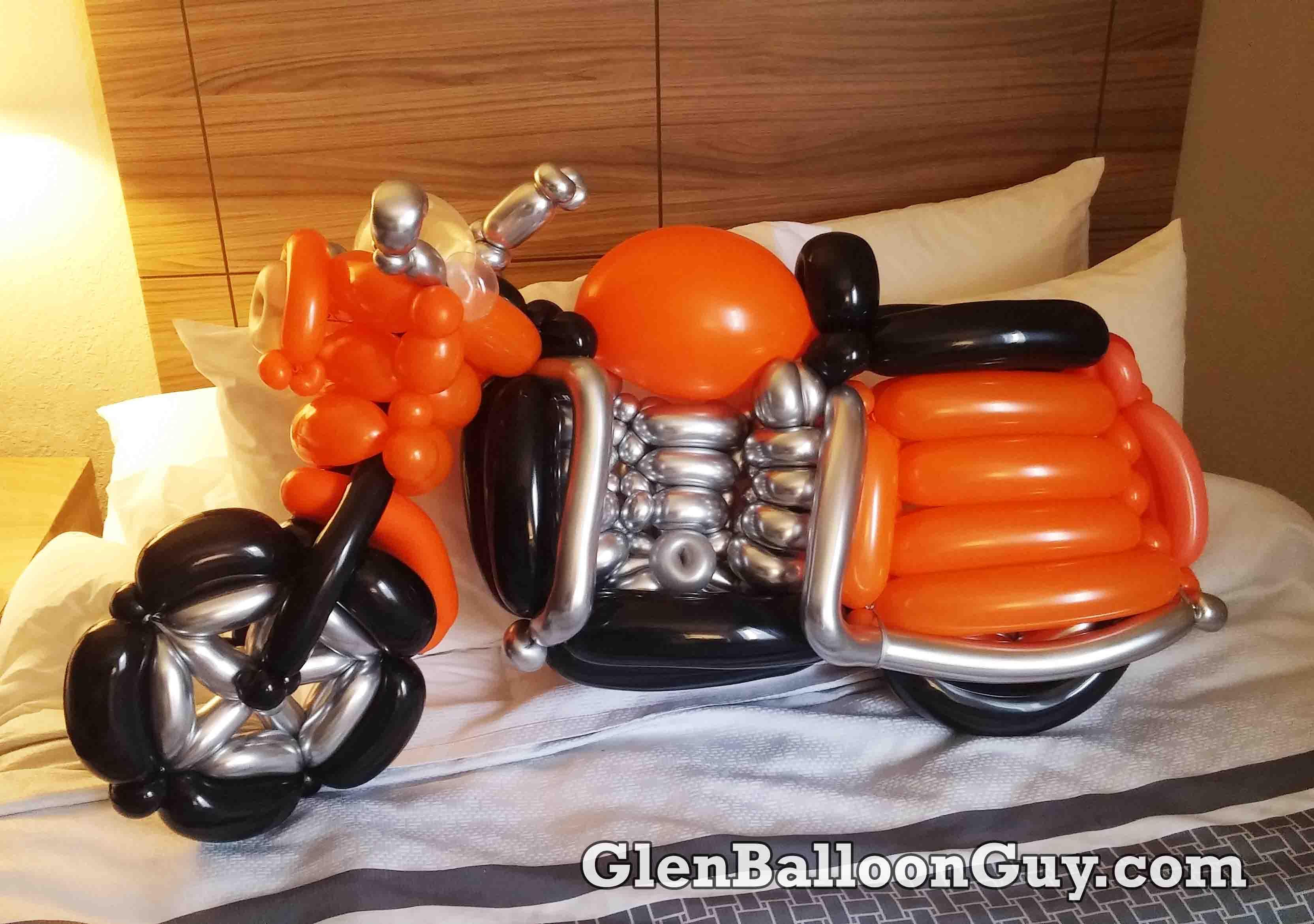 Orange Harley Bike