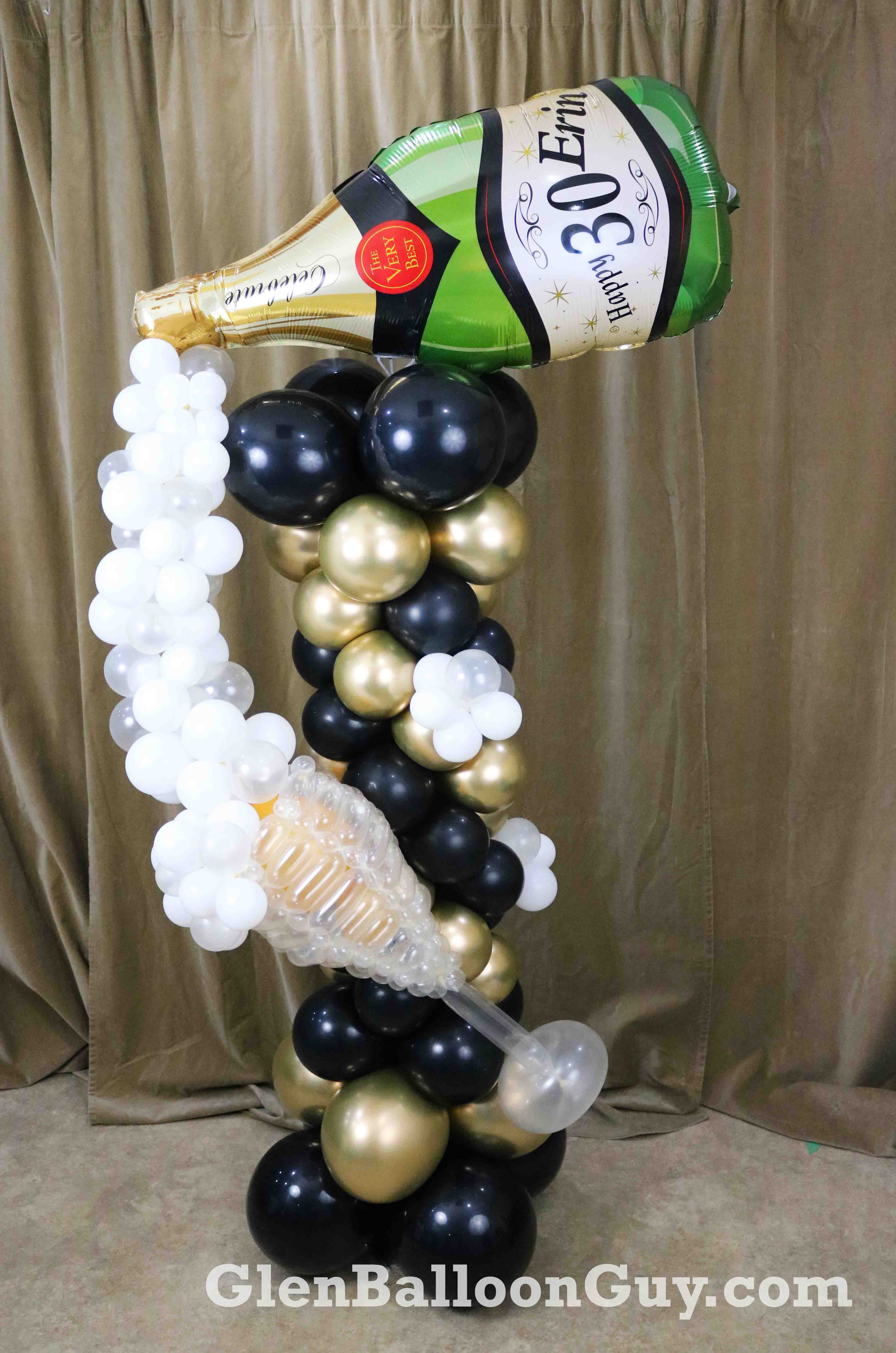 Champagne_Column_balloon_sculpture