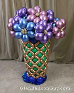Chrome Flower Vase