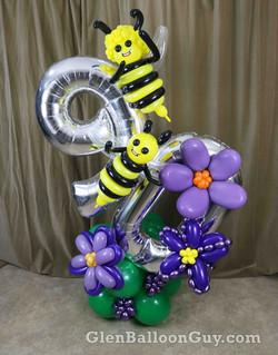 Birthday Bee Balloon Sculpture