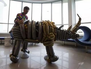 Edmonton Journal - Balloon rhino installed in Edmonton airport hotel lobby to raise awareness over f