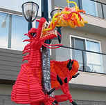Balloon art Edmonton dragon sculpture