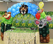 Edmonton balloon art animal jungle decore