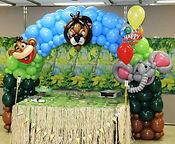 Edmonton balloon art animal jungle decore