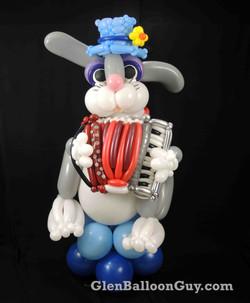 Bunny Playing Accordion