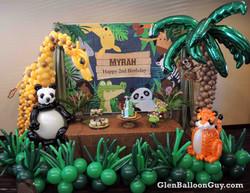 Jungle Theme Balloon Arch