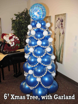 Balloon Christmas Tree, 6 feet with topper