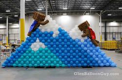Mountain Climbers sculpture, 25 feet wide by 12 feet high