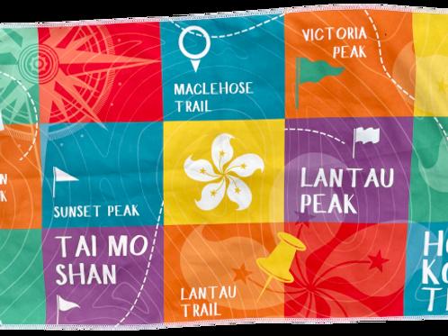 Bilingual Hiking Towel - Multi Coloured