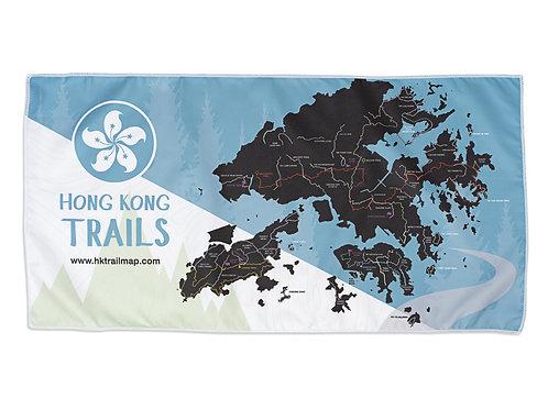 Hiking Towel - Hong Kong Trail Map