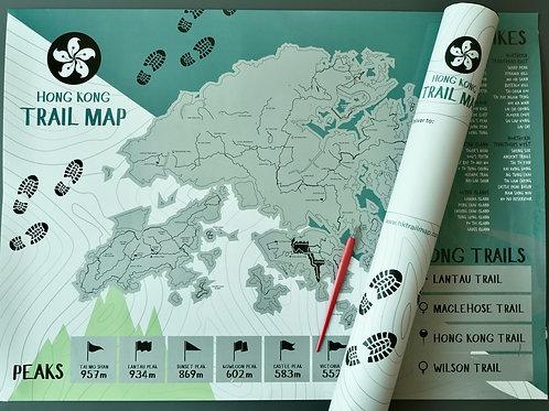 Hong Kong Trail Scratch Map